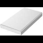 """eSTUFF USB-C 2.5 Alu HDD Enclosure HDD/SSD enclosure 2.5"""" Silver, White"""