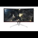 "AOC Gaming AG352QCX computer monitor 88.9 cm (35"") QXGA LED Curved Matt Black,Silver"