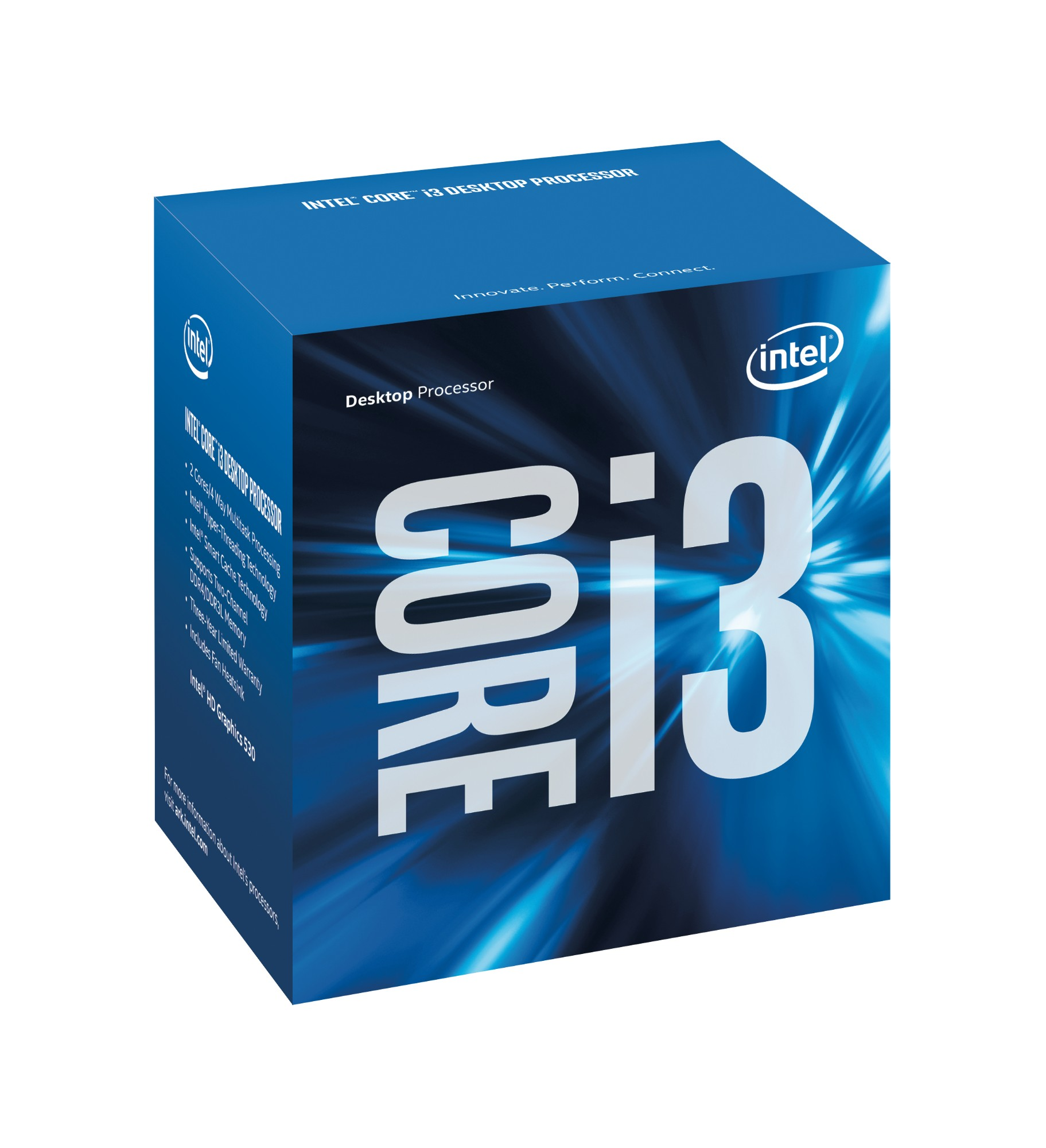 Intel Core ® ™ i3-6100T Processor (3M Cache, 3.20 GHz) 3.2GHz 3MB Smart Cache Box processor