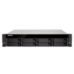 QNAP TS-863XU-4G/96TB-TE NAS/storage server Ethernet LAN Rack (2U) Black