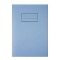 Silvine A4 EXER BOOK 80PG LINED MARG BLU