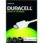 Duracell Sync/Charge Cable 1 Metre White