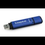 Kingston Technology DataTraveler Vault Privacy 3.0 with Management 64GB 64GB USB 3.0 Black,Blue USB flash drive