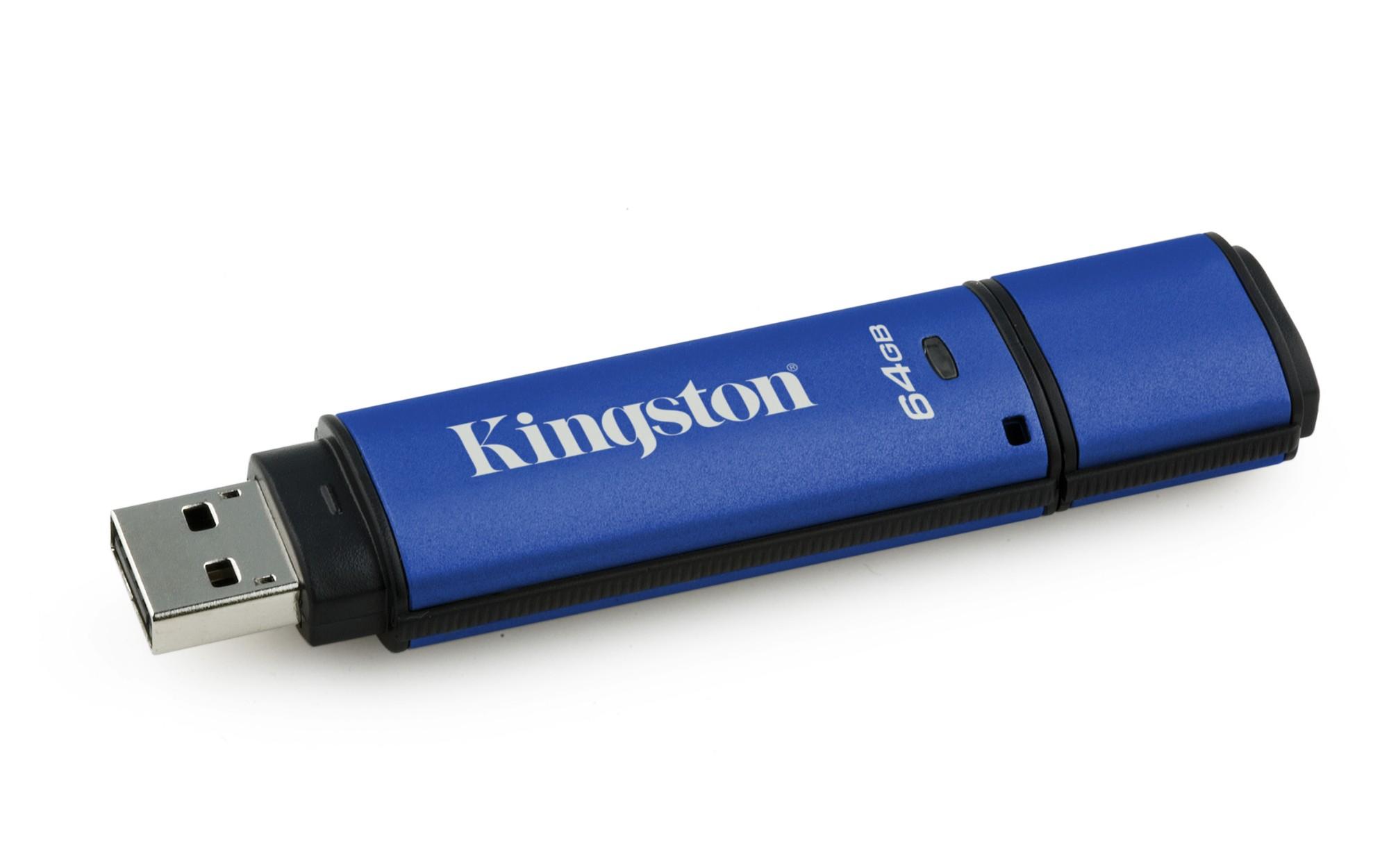 Kingston Technology DataTraveler Vault Privacy 3.0 with Management 64GB 64GB USB 3.0 (3.1 Gen 1) Type-A Black,Blue USB flash drive