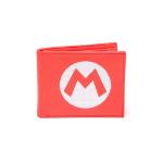 NINTENDO Super Mario Bros. Bi-fold Wallet with Embroidered Mario Logo, Red (MW010205NTN)