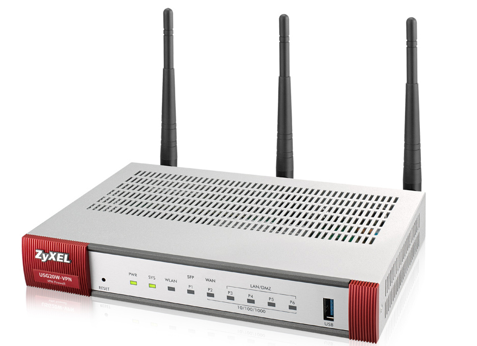 ZyXEL USG20W-VPN-EU0101F Dual-band (2.4 GHz / 5 GHz) Gigabit Ethernet Grey,Red wireless router