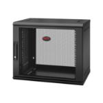 APC NetShelter WX 9U Single Hinged Wall-mount Enclosure 400mm Deep. Wall mounted rack Black