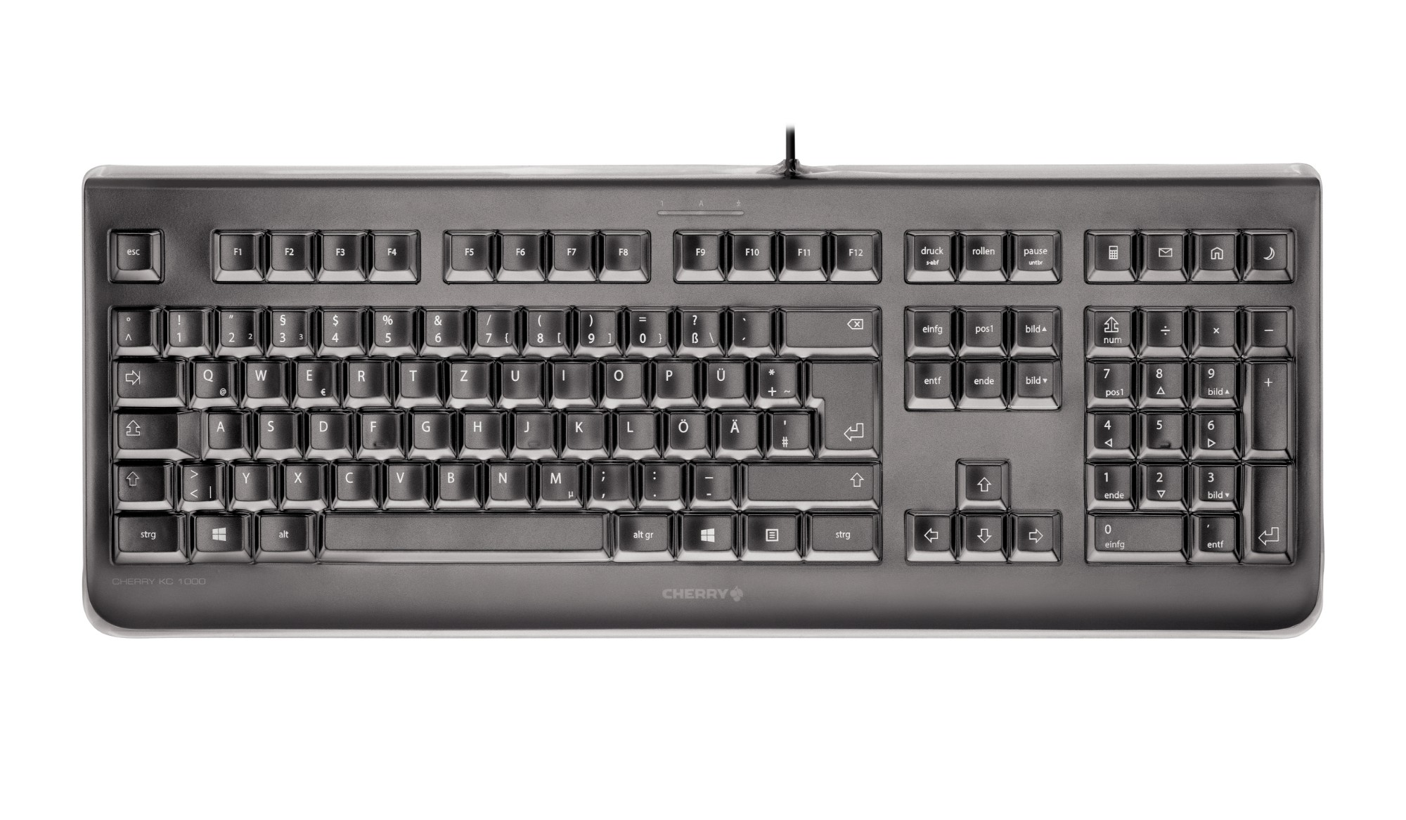 CHERRY KC 1068 USB QWERTY Pan Nordic Black keyboard