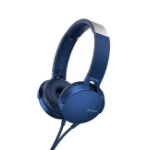 Sony MDR-XB550AP mobile headset Binaural Head-band Blue Wired