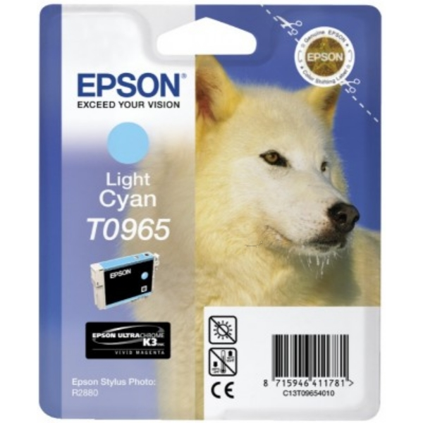 Epson C13T09654010 (T0965) Ink cartridge bright cyan, 865 pages, 11ml