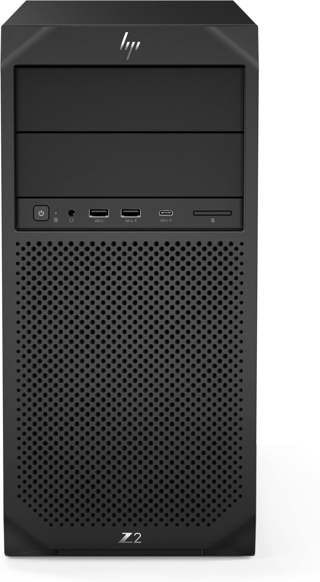 HP Z2 G4 9na generación de procesadores Intel® Core™ i7 i7-9700K 16 GB DDR4-SDRAM 512 GB SSD Tower Negro Puesto de trabajo Windows 10 Pro