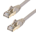 StarTech.com Cable de 1,5m de Red Ethernet Cat6a Gris sin Enganches con Alambre de Cobre