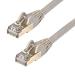 StarTech.com Cable de 1,5m de Red Ethernet Cat6a Gris sin Enganches con Alambre de Cobre