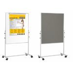 Bi-Office Mobile Duo Melamine/Felt Easel 70x120cm DD