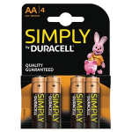 Duracell Simply AA Alkaline 1.5V non-rechargeable batteryZZZZZ], 81235210