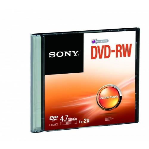 Sony DVD-RW  SINGLE SLIM CASE 4X
