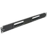 C2G Cat5E 110-type Patch Panel 12-Port 1U Patch Panel