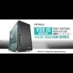 Antec VSK10 Window mATX Case. 2x USB 3.0 Thermally Advanced Builder's Case. 1x 120mm Fan. Two Years Warran