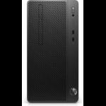 HP 290 G3 DDR4-SDRAM i3-9100 Micro Tower 9th gen Intel® Core™ i3 8 GB 256 GB SSD Windows 10 Pro PC Black