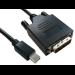 Cables Direct Mini DP/DVI-D 2m 2m Mini DisplayPort DVI-D Black