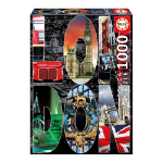 EDUCA England: London City Collage 1000pcs Jigsaw Puzzle (16786)