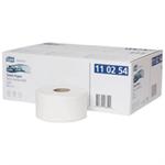 TORK Premium Mini Jumbo Toilet Roll 2-ply Embossed White Ref 110254 [Pack 12]