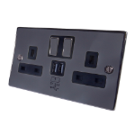 CONNEkT Gear 27-2000/BN socket-outlet Type G Black