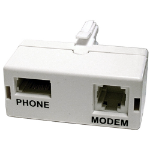 Cablenet ADSL Microfilter Direct White socket-outlet
