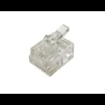 Cables Direct RJ12 6P6C wire connector RJ-12 Transparent