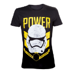 Star Wars VII The Force Awakens Adult Male Stormtrooper First Order Power T-Shirt, Extra Large, Black (TS20439