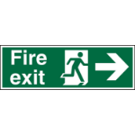 Stewart Superior Fire Exit Right Sign