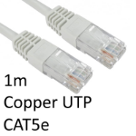 TARGET RJ45 (M) to RJ45 (M) CAT5e 1m White OEM Moulded Boot Copper UTP Network Cable