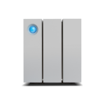 LaCie 2big Thunderbolt 2 16000GB Desktop Silver disk array