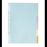 Exacompta 1606E divider Cardboard, Paper Multicolour 6 pc(s)