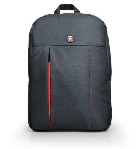 Port Designs Portland backpack Black, Red Linen, Polyester