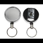Digital ID Chrome Heavy Duty Card Reel Key Ring - Pack of 50