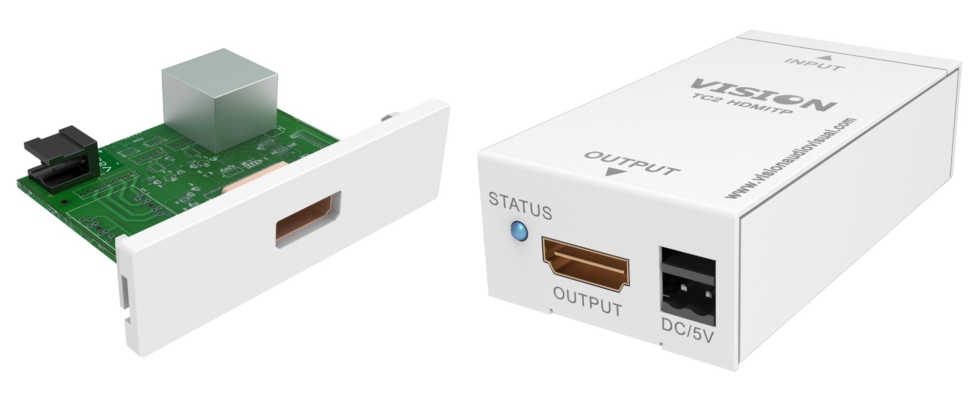V2 Module Hdmi-over-twisted Pair Transmitter And Receiver Set. Features