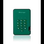 iStorage diskAshur2 256-bit 128GB USB 3.1 secure encrypted solid-state drive - Green IS-DA2-256-SSD-128-GN