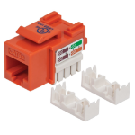 Intellinet Keystone Jack, Cat5e, UTP, Punch-down, Orange