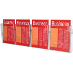 ESSELTE BROCHURE HOLDER WALL SYSTEM 1 TIER A4 X 4