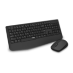 RAPOO Wireless Keyboard and Optical Mouse Combo BLACK Multimode wireless (BT3.0, BT4.0 and 2.4G) /1300 DPI