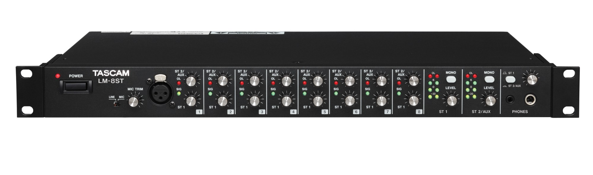 Tascam LM-8ST 8channels Black audio mixer