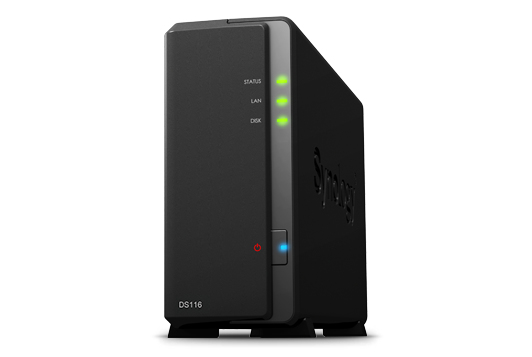 Synology DS116 NAS Compact Ethernet LAN Black storage server