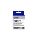 Epson Strong Adhesive Tape- LK-5WBW Strng adh Blk/Wht 18/9