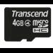Transcend TS4GUSDC4 4GB MicroSDHC memory card