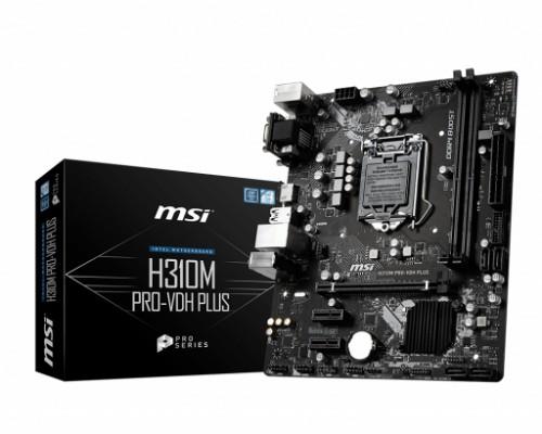 MSI H310M PRO-VDH PLUS motherboard Intel® H310 LGA 1151 (Socket H4) micro ATX
