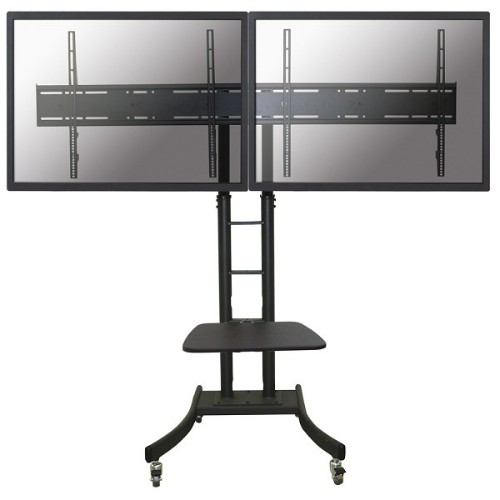 """Newstar Mobile Dual LFD/Monitor/TV Trolley for two 32""""-70"""" Screens, Height Adjustable - Black"""