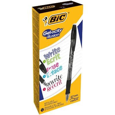 BIC Gel-ocity illusion Capped gel pen Black 12 pc(s)