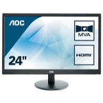 "AOC Value-line M2470SWH LED display 59.9 cm (23.6"") Full HD Flat Black"