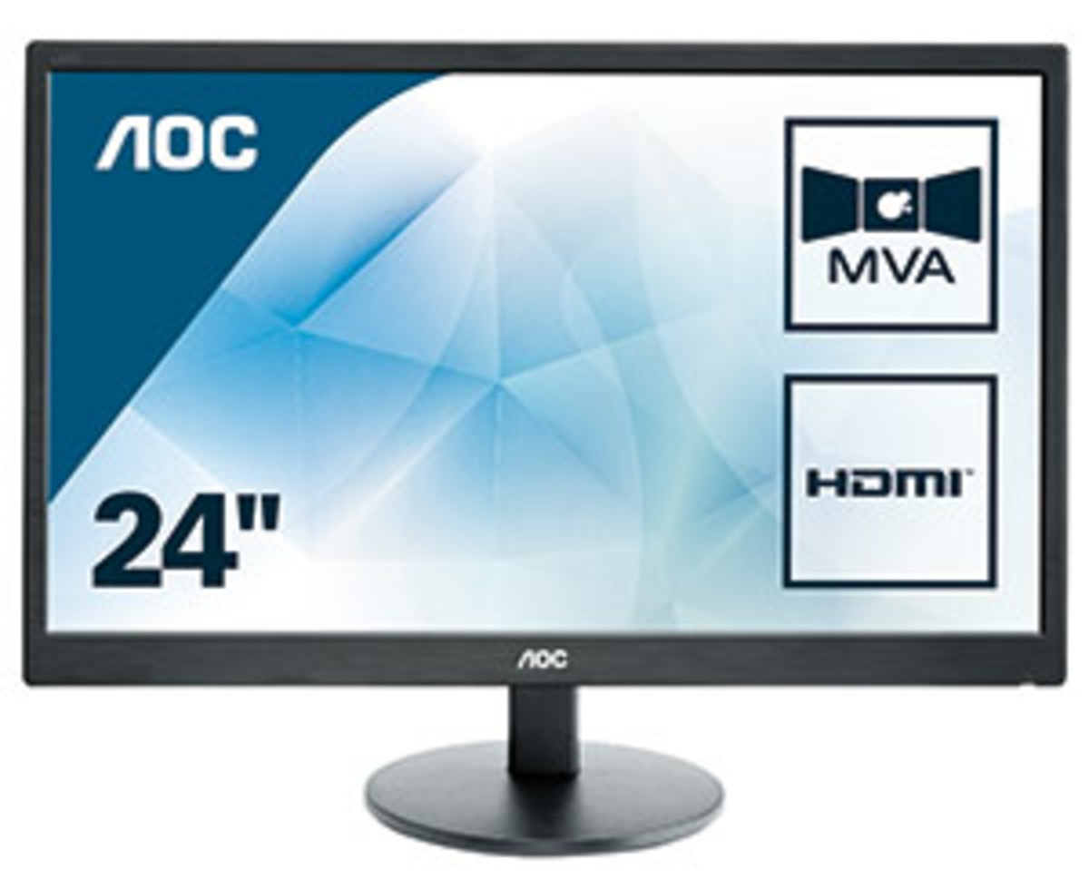 "AOC Basic-line M2470SWH LED display 59.9 cm (23.6"") 1920 x 1080 pixels Full HD Flat Black"